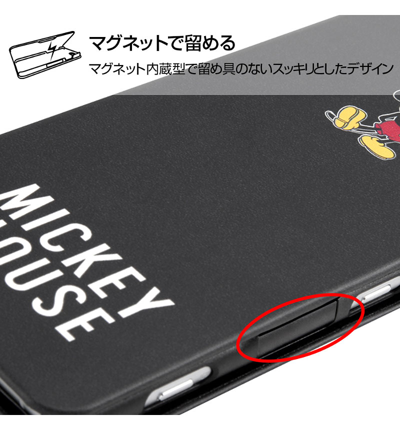 Xperia XZ2 『ディズニーキャラクター』/手帳型アートケース マグネット スリム  『ミッキーマウス』_025 IN-RDXZ2MLC3/MK025