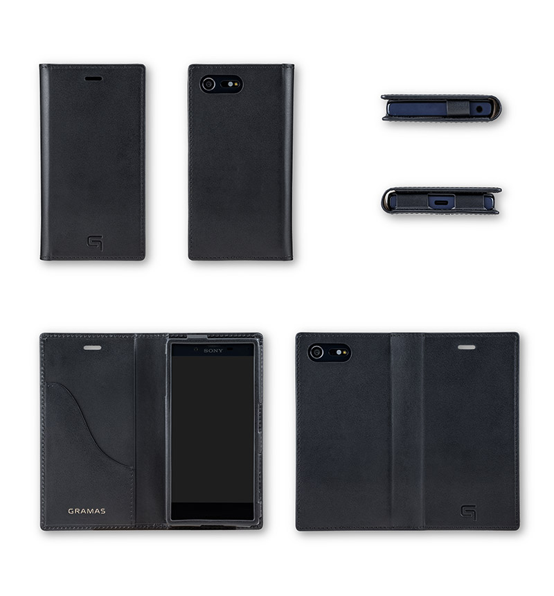 Full Leather Case for Xperia X Compact Black ブラック GLC6126BK
