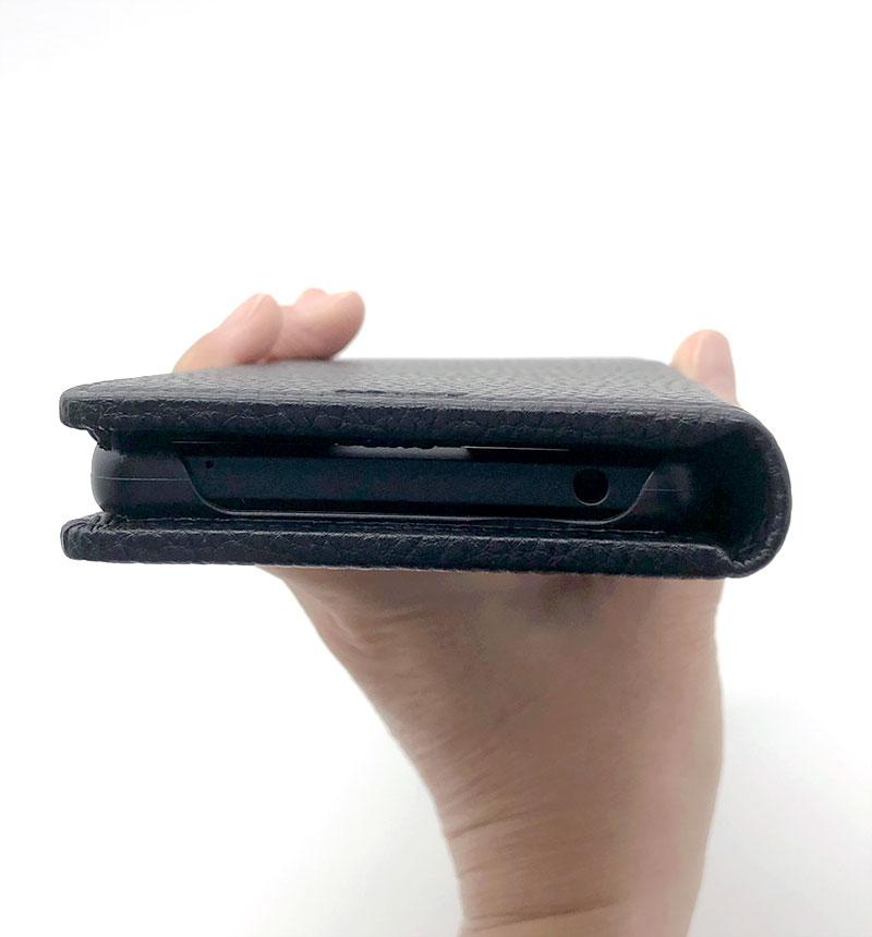 Xperia 1 III 本革風レザーフラップケース「SUPERIOR」 ブラック ブラック GR-21SX1C02BK