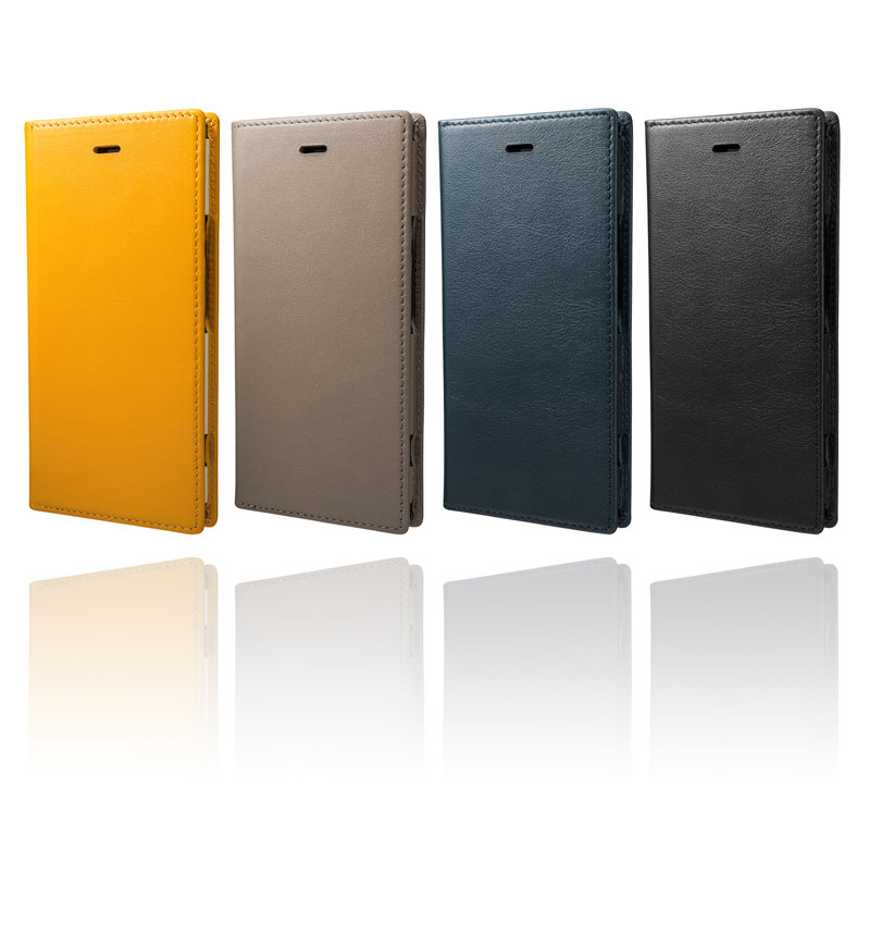 Full Leather Case for Xperia XZ1 Yellow GLC-71417YLW