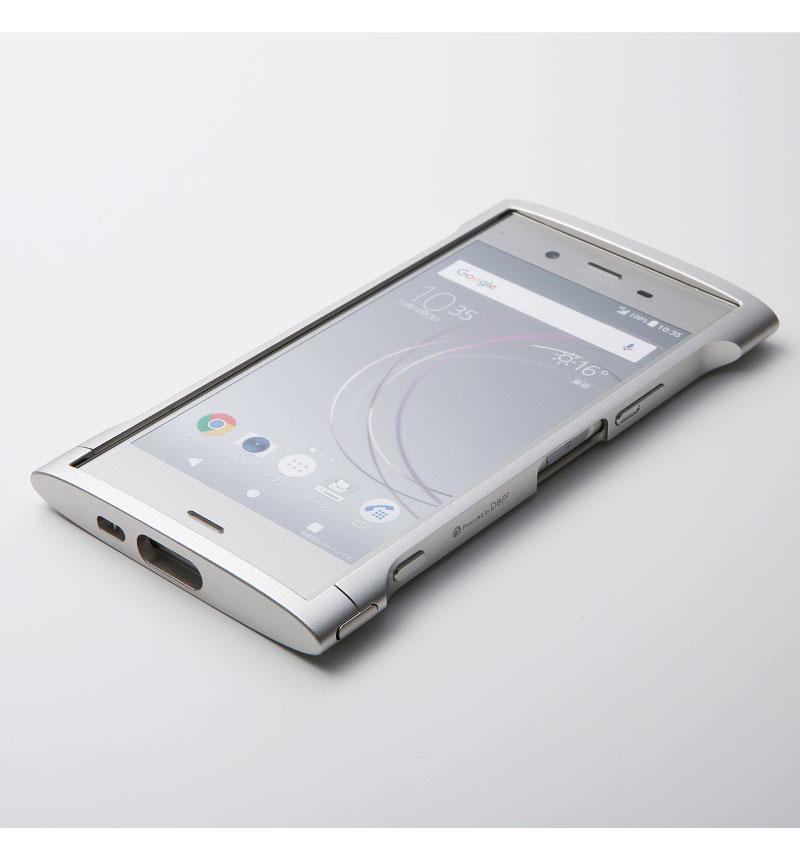 Cleave Aluminum Bumper Chrono for Xperia XZ1 ウォームシルバー DCB-XZ1CHASV