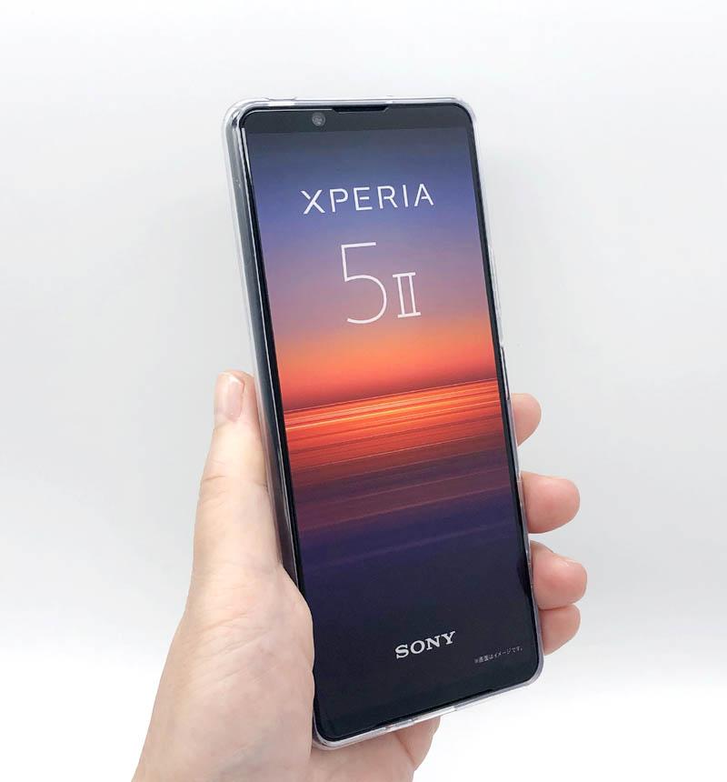 Xperia 5 II 専用 ハイブリッドケース/極み/フォルティモ クリア PM-X203HVCK2CR