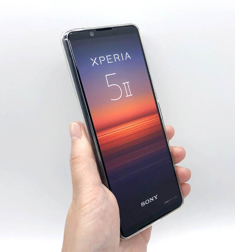 Xperia 5 II 専用 ハイブリッドケース/極み クリア PM-X203HVCKCR