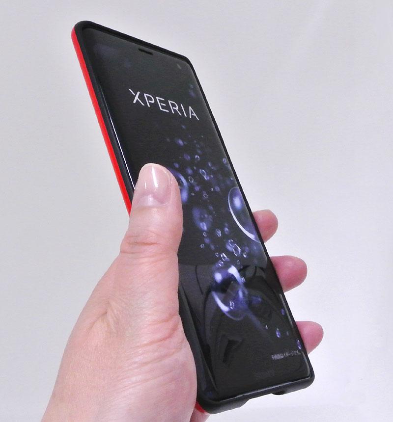 Xperia XZ3 TPU 耐衝撃Light レッド RT-RXZ3CP6/R