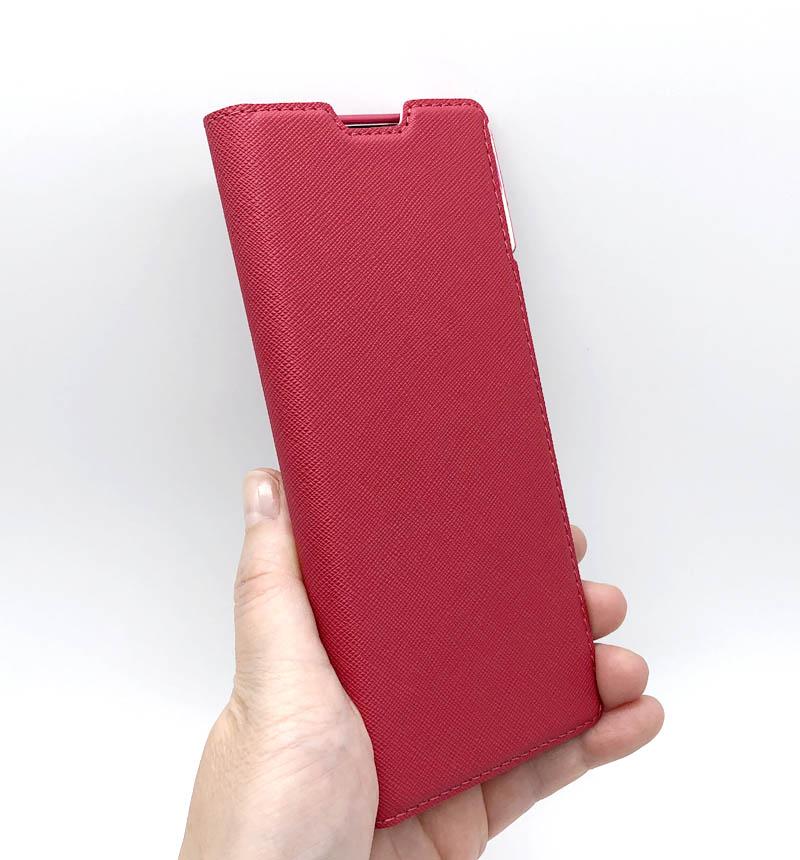 Xperia 5 II 専用 ソフトレザーケース/薄型/磁石付/女子向 ディープピンク PM-X203PLFUJPND