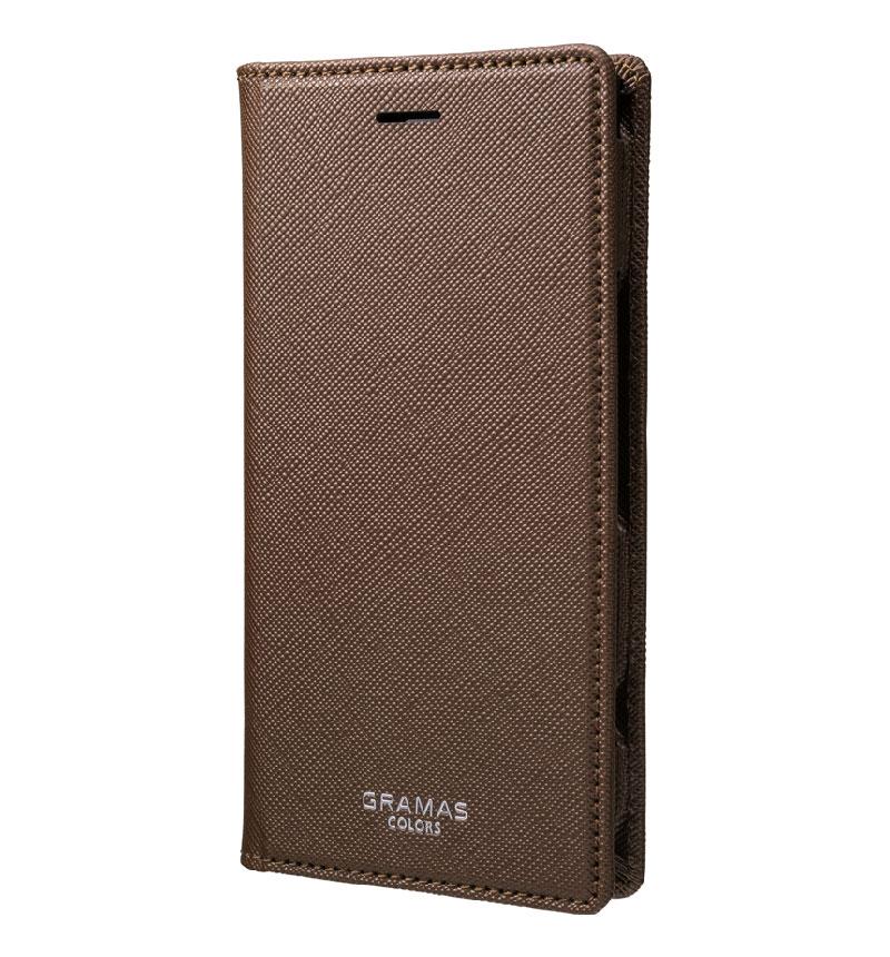 EURO Passione Book PU Leather Case for Xperia XZ1 COMP Brown CLC-61517BRW