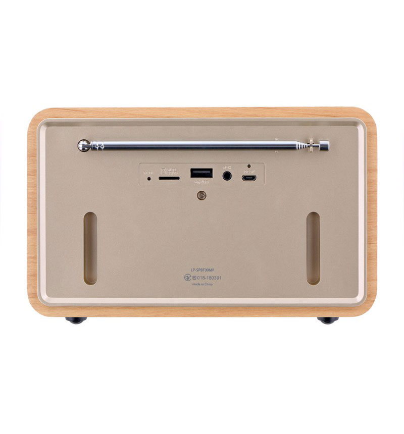 ワイヤレス スピーカー 「Classica Premium(クラシカ プレミアム)」  メイプルウッド調 メイプルウッド調 LP-SPBT09MP
