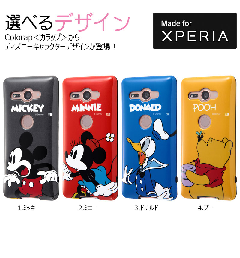 Xperia XZ2 Compact ディズニーキャラクター/TPUソフトケース Colorap ミニー IN-RDXZ2COCP1/MN