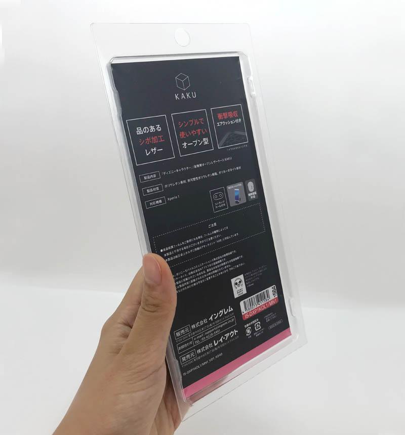 Xperia 1 『ディズニーキャラクター』/耐衝撃オープンレザーケース KAKU ミニー IS-DXP1KOL1/MN1