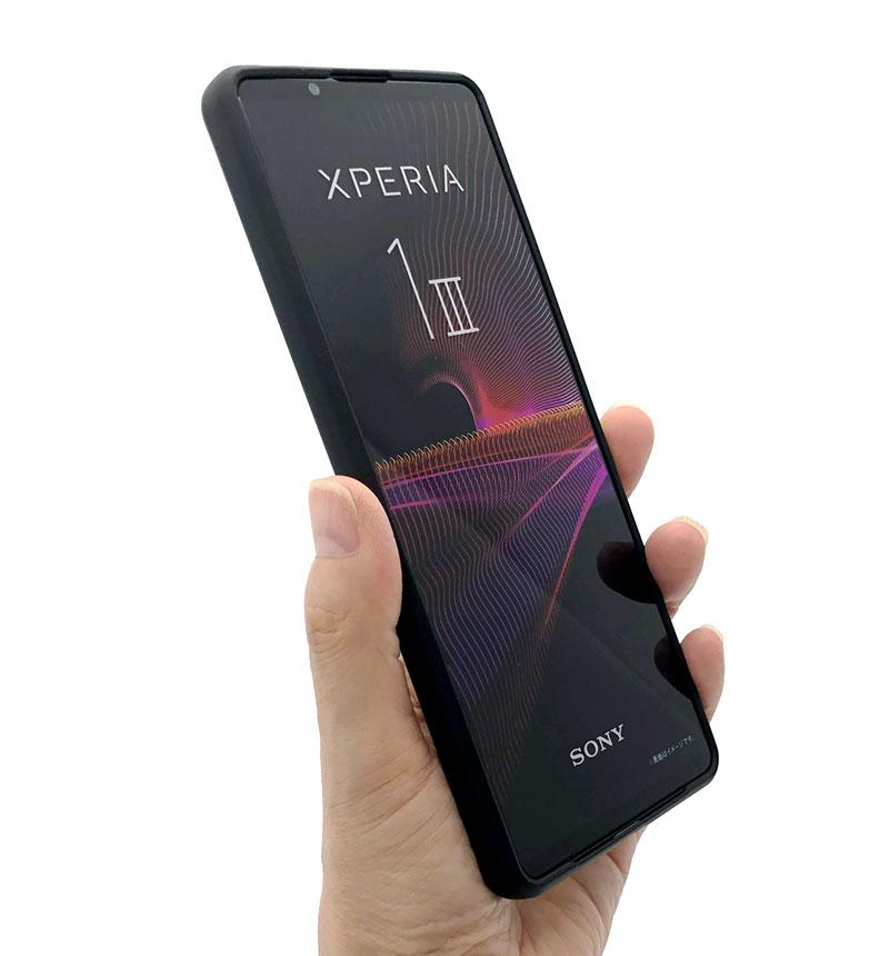 Xperia 1 III TPUリングケース ブラック 6137XP13TP