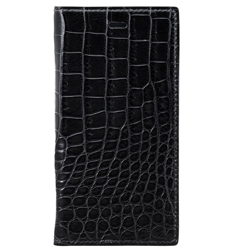 【限定品】カバーストア別注 GRAMAS Meister×T・MBH Crocodile XZ1 Full Leather Case Black MLC91417BLK