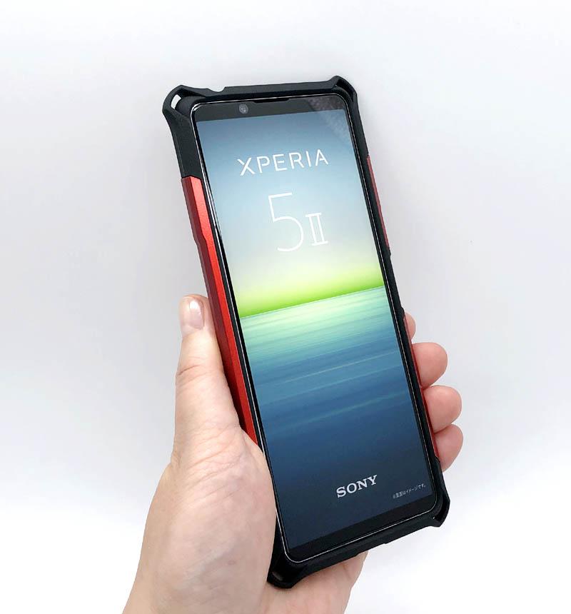 Xperia 5 II 専用 ZEROSHOCK レッド PM-X203ZERORD