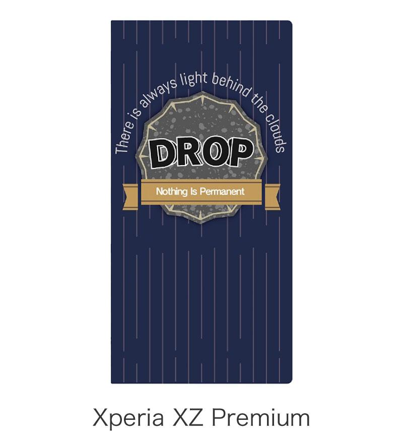 Xperia XZ Premium 薄型デザインPUレザーケース「Design+ (デザインプラス)」 DROP LP-XPXZPLD011