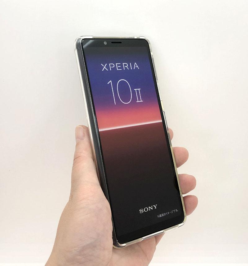 Xperia 10 II TPUソフトケース リング付 シルバー IN-RXP10TC30/SVM