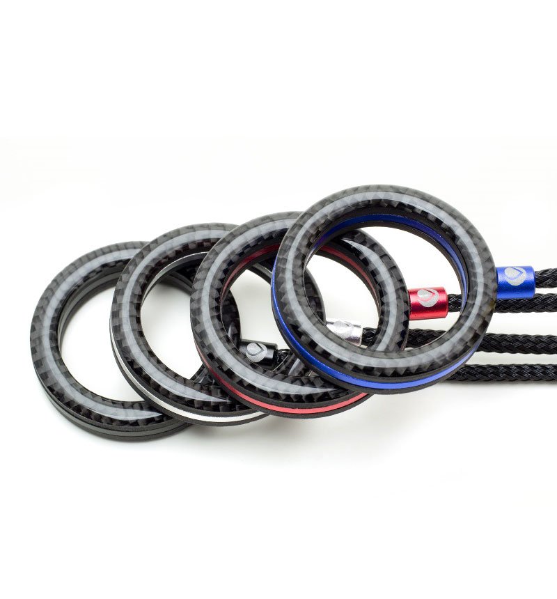 Finger Ring Strap Aluminum Combination カーボン/レッド DFR-CA04BRD