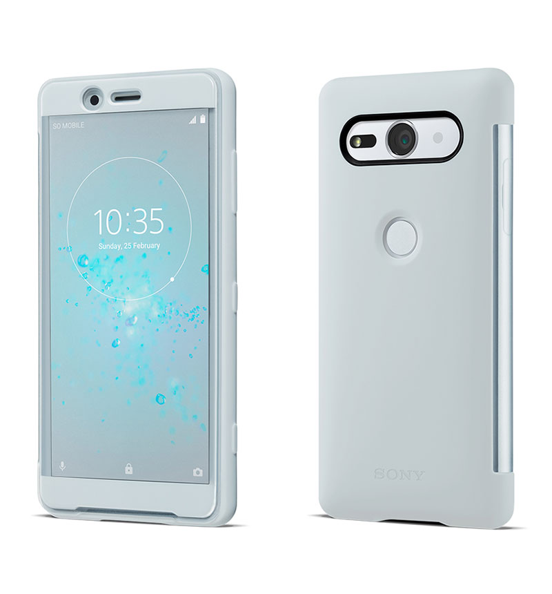 Xperia XZ2 Compact Style Cover Touch グレー SCTH50JP/H