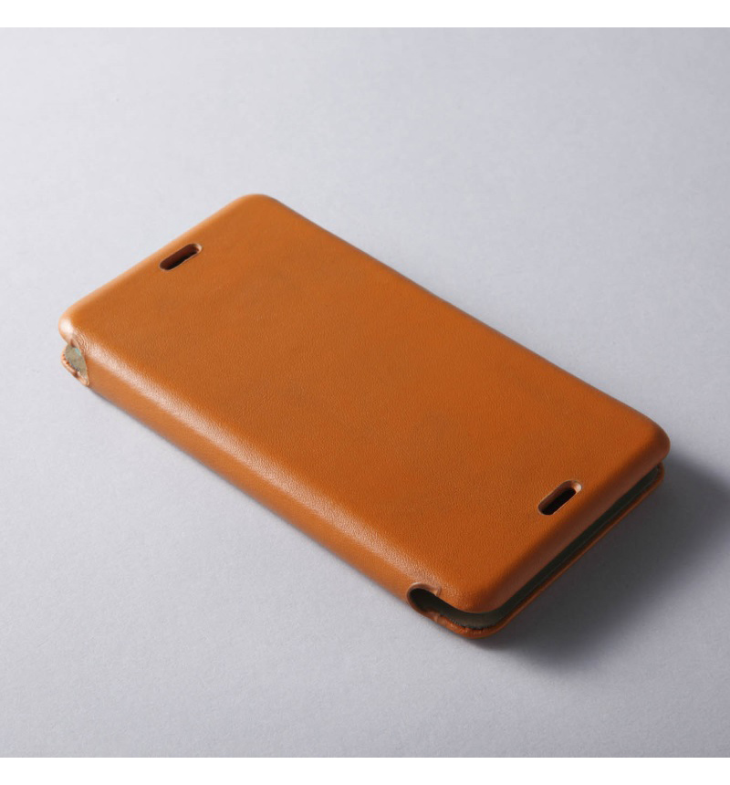 GENUINE LEATHER COVER MASK for Xperia Z3 Compact Camel DCS-CXZ3CGLCA