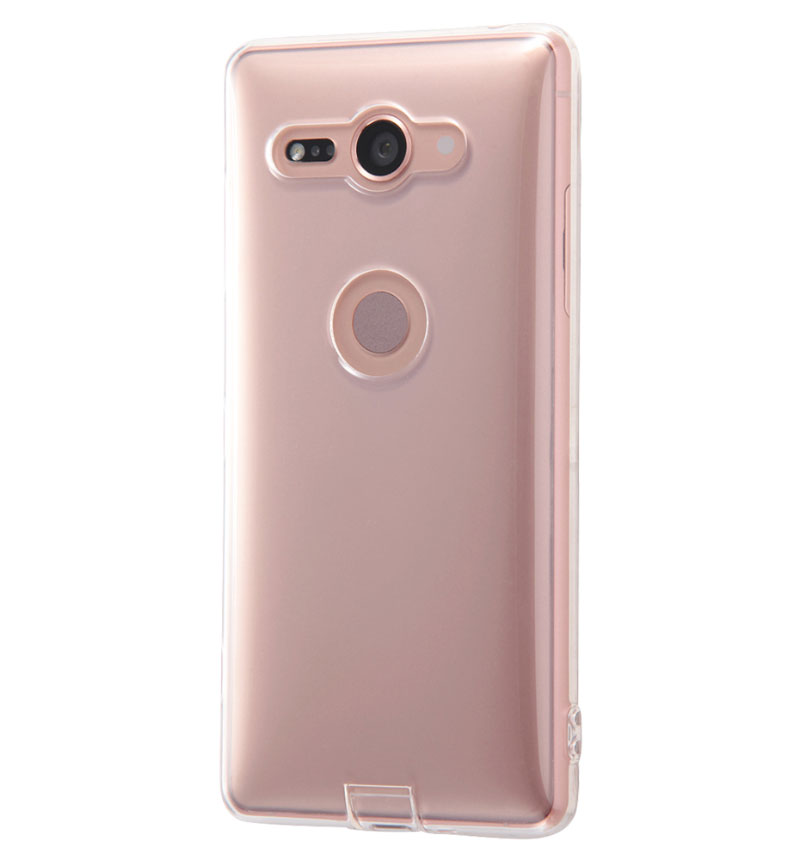 Xperia XZ2 Compact TPU コネクタキャップ付き クリア RT-RXZ2COTC10/C