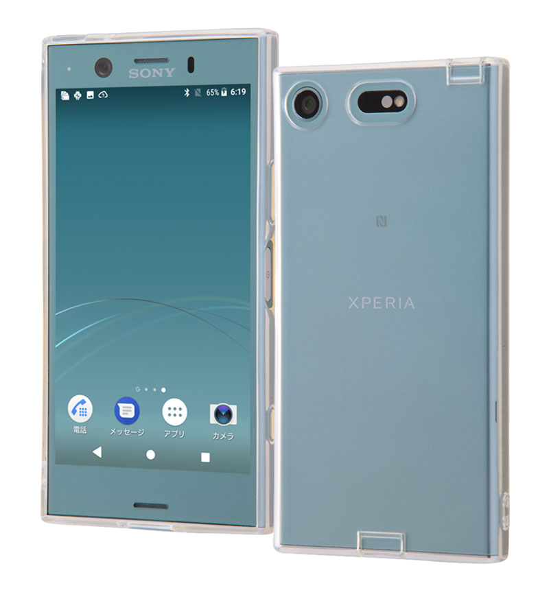 Xperia XZ1 Compact TPUソフトケース コネクタキャップ付き クリア RT-RXZ1CTC10/C