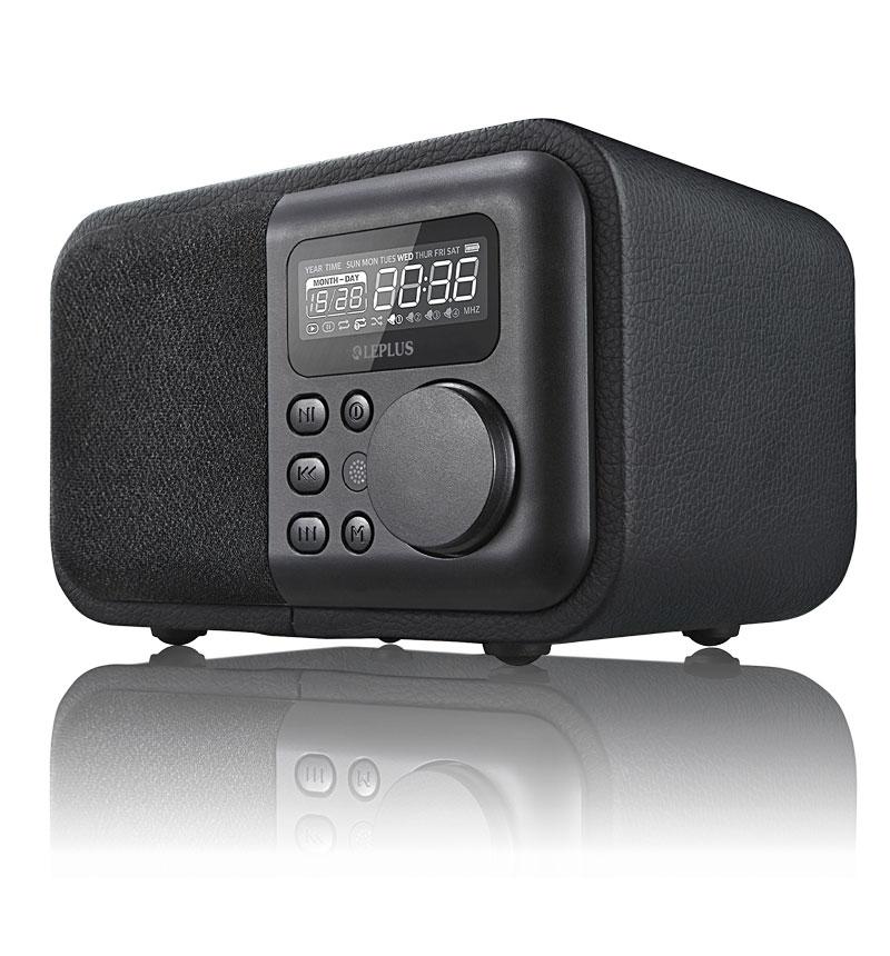 ワイヤレス スピーカー 「Classica」 ブラックレザー調 LP-SPBT02BK