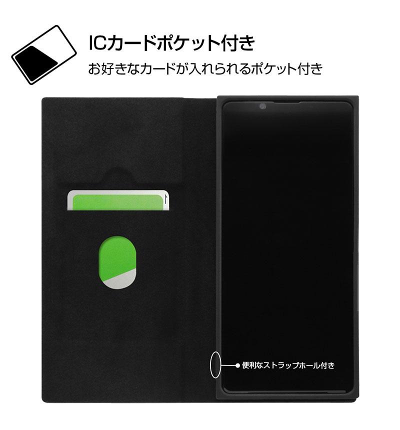 Xperia 1 II 『ディズニーキャラクター』/耐衝撃 手帳型レザーケース サイドマグネット ミニー RT-RDXP1M2TBC7/MN