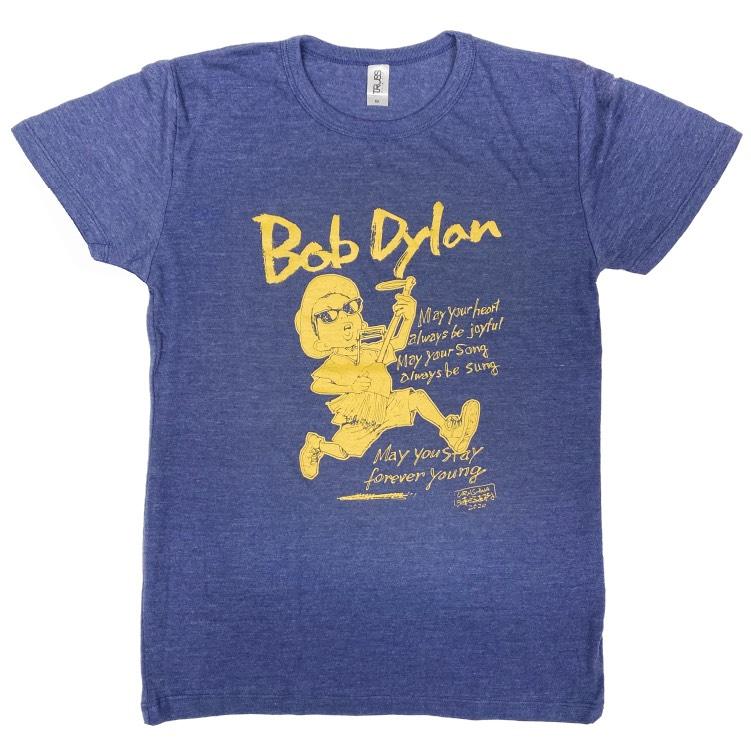 BOB DYLAN × 浦沢直樹イラストTシャツ(ヘザーネイビー)