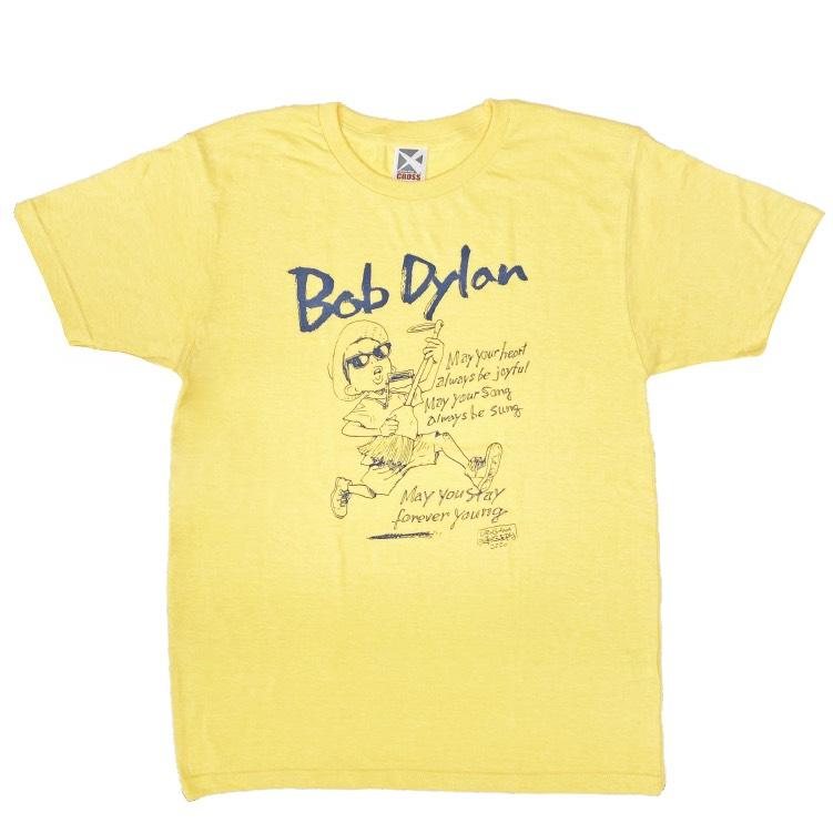BOB DYLAN × 浦沢直樹イラストTシャツ(イエロー)