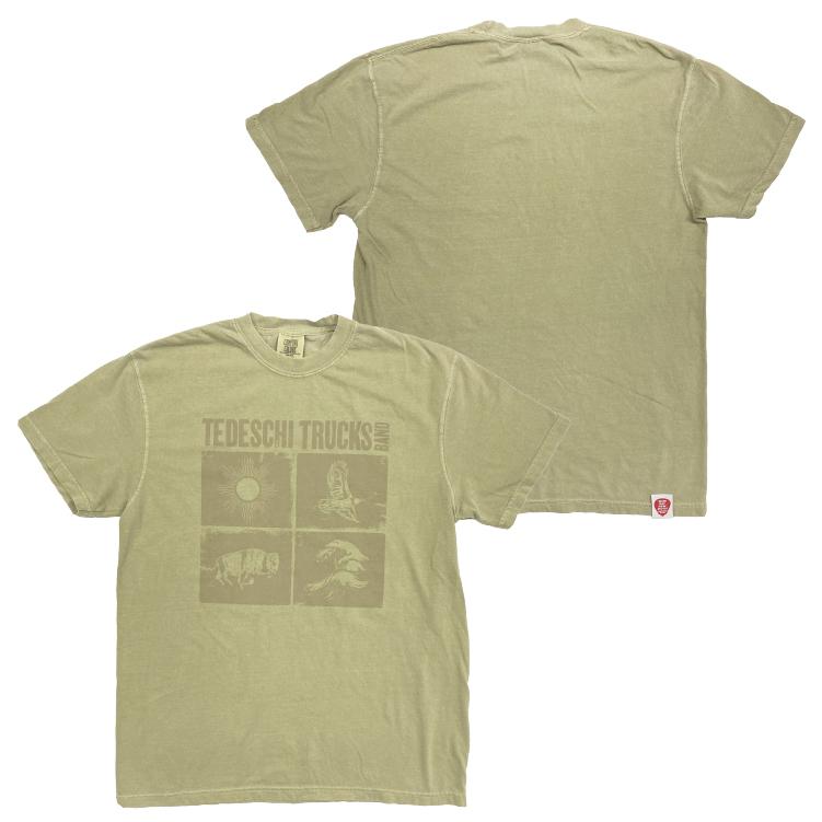 シンボリックTシャツ(ヴィンテージ/カーキ)