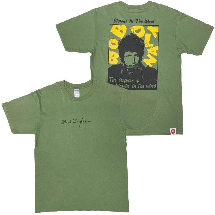 BLOWIN' IN THE WIND Tシャツ(カーキ)