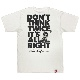 DON'T THINK TWICE, IT'S ALL RIGHT Tシャツ(ホワイト)