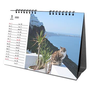 卓上カレンダー【A5横】印刷範囲Mタイプ(13枚綴り)