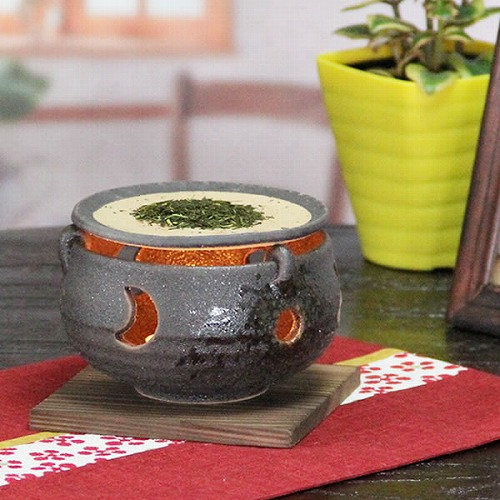 黒砂流し茶香炉 信楽焼き茶香炉[ty-0012]