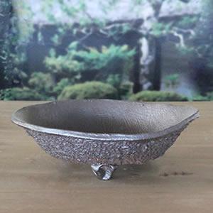 山草鉢!信楽焼き植木鉢!手作り山野草鉢 陶器[sa-0291]