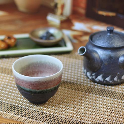 信楽焼 ラズベリー湯呑み 湯のみ 茶器 w913-08