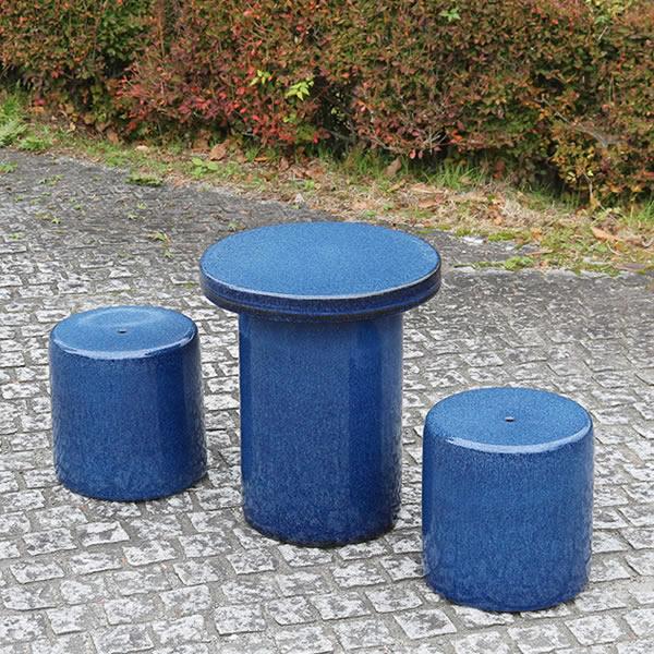 15号テーブルセット 陶器テーブル 信楽焼