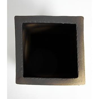 信楽焼きかさたて 絵付き四角傘立て 陶器[kt-0212]