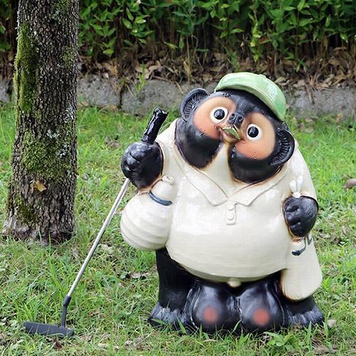 20号ゴルフ狸(緑色)