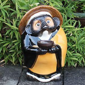 信楽焼きたぬき お坊さん狸(鉄鉢) 陶器タヌキ[ta-0200]