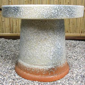 20号吹雪窯変ガーデンテーブルセット 陶器のテーブルセット 信楽焼き【5点セット】[te-0045]