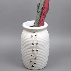 信楽焼きかさたて トライアングル壺型傘立て 陶器[kt-0273]