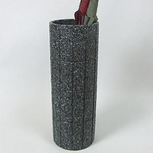信楽焼きかさたて 黒格子傘立て 陶器[kt-0124]