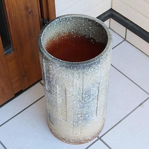 信楽焼きかさたて 窯変傘立て 陶器 [kt-0158]