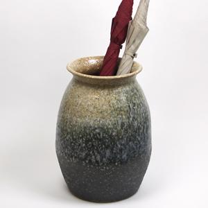 信楽焼きかさたて 白窯変壷型傘立て 陶器[kt-0289]