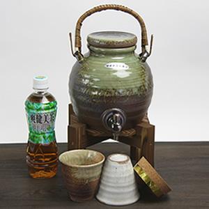 信楽焼き焼酎サーバー 丸型ビードロ 陶器サーバー[ss-0062]