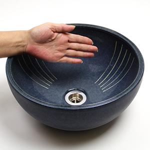 ナマコ色ボール型手洗い鉢【小型サイズ】信楽焼き手洗器!陶器の手水鉢[tr-2067]