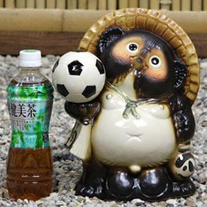 信楽焼きたぬき 8号サッカー狸 陶器タヌキ[ta-0112]