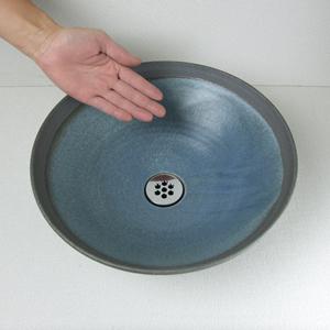 あけぼの手洗い鉢【小型サイズ】信楽焼き手洗器!陶器の手水鉢[tr-2096]