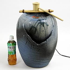信楽焼き電動つくばい 湧き水ツクバイ水流れ清涼[dt-0032]
