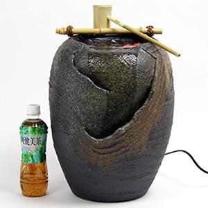 信楽焼き電動つくばい 湧き水ツクバイ水流れ さざなみ[dt-0001]
