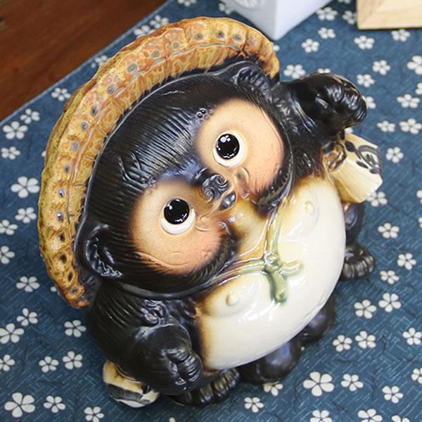 信楽焼きたぬき 6号踊り狸 陶器タヌキ[ta-0195]